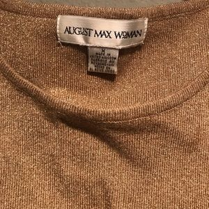 August Max Sweaters - Gold Metallic Twin Set